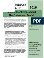 EndowBridge Efficient Frontier Insights and the Endowment Model (2016-01)