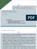 Attribute Listing Method