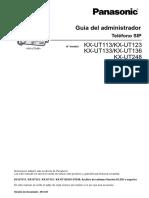 Manual de Administrador Kx-ut248ne