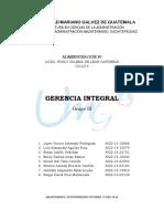 Administración IV -- Gerencia Integral