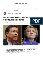 US Election 2016_ Clinton Camp Blasts FBI 'Double Standards' - BBC News