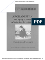Afghanistan the Legacy of Human Suffering in a Forgotten War A