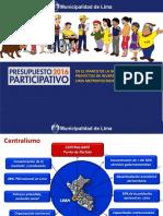 Gestión de Proyectos de Inversión Pública en Lima Metropolitana