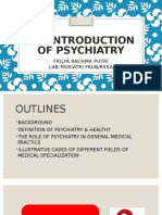 1. the Introduction of Psychiatry- Dr Frilya