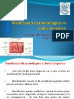 Manifestari Dermatologice in Bolile Hepatice