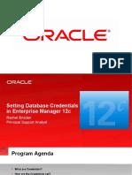 Setting Database Credentials