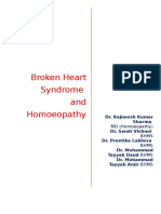 Broken Heart Syndrome (Stress Cardiomyopathy) and Homoeopathy