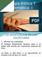 Teologia Biblica y Sistematica I, Clase 3
