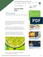 15 Razones Para Beber Agua Con Limón Todas Las Mañanas - Taringa!