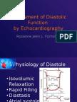 Assessment of Diastolic Function