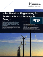Electrical Engineering for Sustainable and Renewable Energy Msc