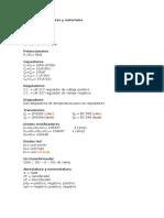 Lista de Componentes y Materiales