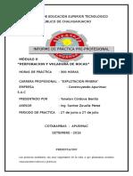 Informe Modular de Práctica Pre Profesional de Iestp Chalhuahuacho