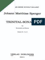 Sperger - Trinital Sonaten