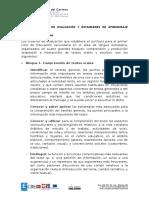 Criterios de evaluación y estándares de Anota Francés 1º-4ºESO