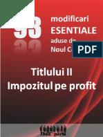 93 Modificari Esentiale Impozit Pe Profit
