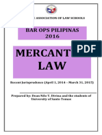 Recent Jurisprudence in Mercantile Law