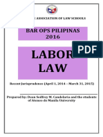 Recent Jurisprudence in Political Law