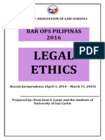 Recent Jurisprudence in Legal Ethics