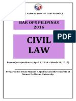 Recent Jurisprudence in Civil Law