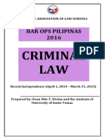 Recent Jurisprudence in Criminal Law