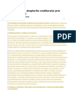 Subrogaţia În Drepturile Creditorului Prin Plata Creanţei