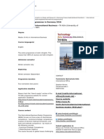 Deutschland Studienangebote International Programs en 2