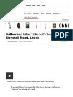 Halloween Bike 'Ride Out' Closes Kirkstall Road, Leeds - BBC News