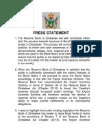 Zimbabwe Bond Notes Programme