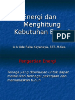 Menghitung Kebutuhan Energi Final