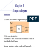 Cours Filtrage Analogique