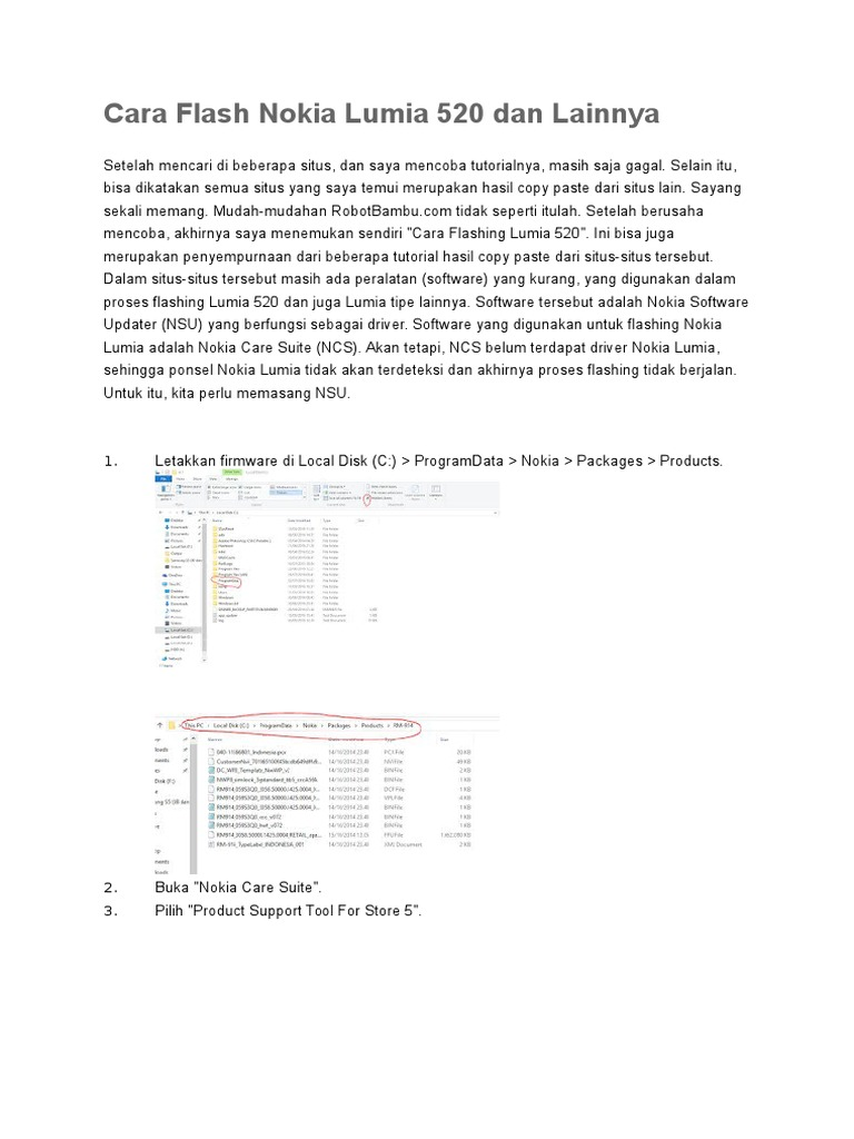 Cara Flash Nokia Lumia 520 Dan Lainnya