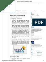 Analisis SWOT PT Telkomsel