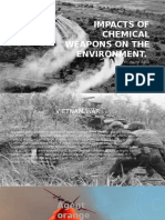 Impacts of Chemical Weapons on the Environment