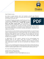 flinders living sponsorship form