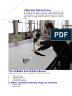 Quality Control of Garments Cutting Section