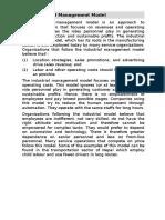 Industrial Management Model