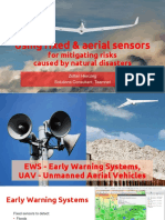 Using Fixed and Aerial Sensors for Mitigating Risks Caused by Natural Disasters