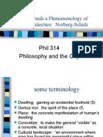 Phil 314 Norberg Schulz