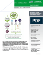 CO Dept of Education Marijuana Tax Revenue Fact Sheet Sept 2016
