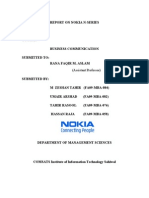 Business Communication Report on Nokia N Series