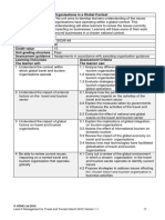 Assessment Criteria and Indicative Content - L5T Travel and Tourism Organisations
