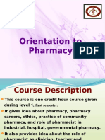 1 Orientation to Pharmacy Leture 1