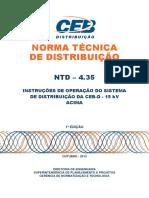 Ntd-4.35 - Instrucoes de Operacao Do Sistema de Distribuicao Da Ceb-d - 15 Kv Acima