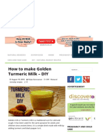 How to Make Golden Turmeric Milk - DIY