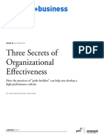 00271 Three Secrets of Organizational Effectiveness