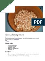 Kacang Bawang Simple