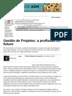 Gestão de Projetos_ a Profissão Do Futuro - Artigos - Carreira - Administradores