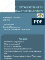 Unit 1 Introduction to Wastewater Treatment