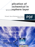 Application of Photochemical in Atmosphere Layer